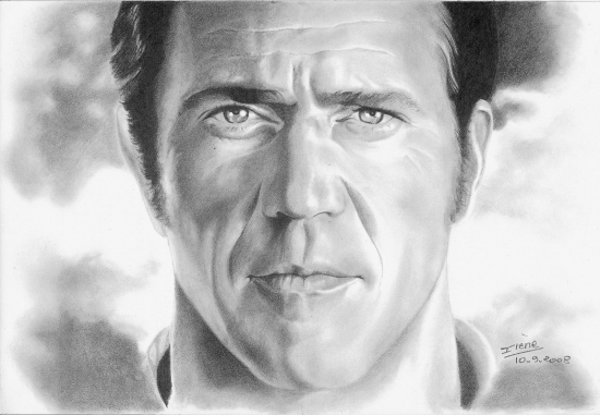 Mel Gibson by peggy